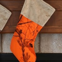 Realtree Blaze Orange Christmas Stocking