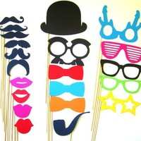 Photo Booth Props - 21 Piece
