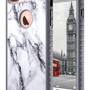 Iphone 7 Plus Case Marble Iphone 7 Plus Case Ulak Slim Shockproof Flexible Tpu Bumper Durable Anti Slip Lightweight Front And Back Hard Protective Safe Grip Cover For Apple Iphone 7 Plus 5.5 Inch