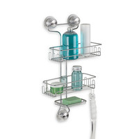 InterDesign® Power Lock Ultra™ 3-Tier Shower Caddy in Silver