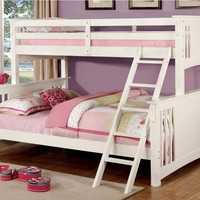 Marlie White Extra Long Twin over Queen Bunk Beds