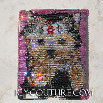 Your Pet Portrait with Swarovski Crystals on iPad Cover