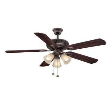 Hampton Bay Glendale 52 in. Bronze Ceiling Fan-AG524-ORB at The Home Depot