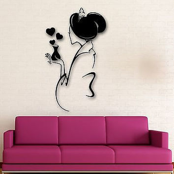 Wall Stickers Vinyl Decal Lovely Geisha Oriental Sexy Woman Girl Love (ig1479)