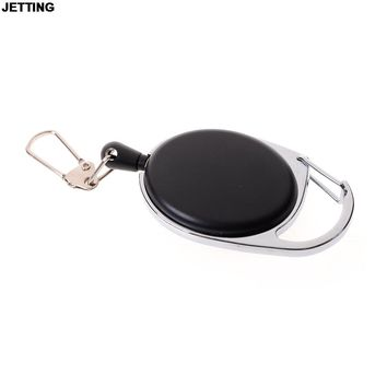 JETTING Retractable Badge Holder Carabiner Reel Clip On ID Card Holders Retractable cord, 24 inch cord extension