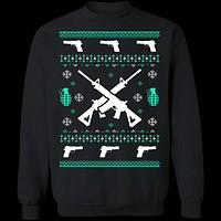Assault Rifle Ugly Christmas Sweater