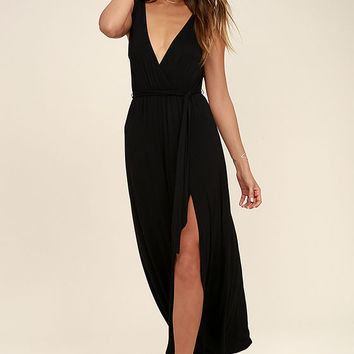 Take a Cruise Black Maxi Dress