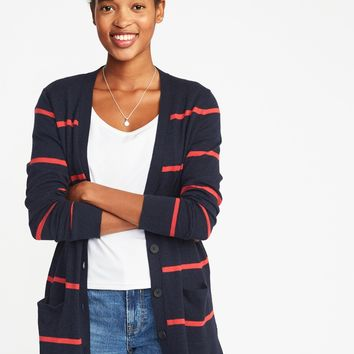 Boyfriend V-Neck Cardi for Women | Old Navy