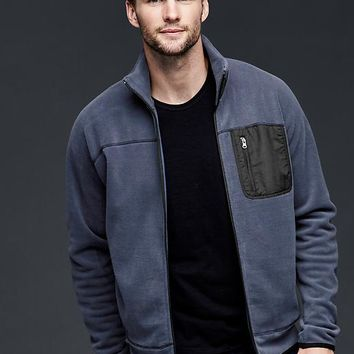 Gap Men Polar Fleece Zip Mockneck Jacket