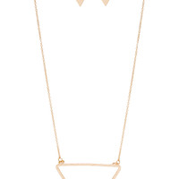 Legendary Triangle Necklace - One Size / Gold