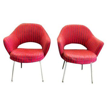 Pre-owned Eero Saarinen Knoll Executive Armchairs - A Pair