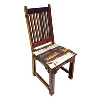Brix Multicolored Distressed Dining Chair