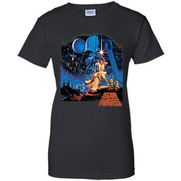 Star Wars A New Hope Classic Vintage Poster Graphic T-Shirt t-shirt