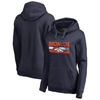 Women's Denver Broncos NFL Pro Line by Fanatics Branded Navy First String Pullover Hoodie
