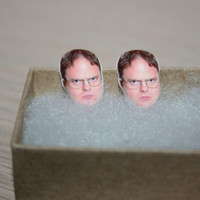 Dwight Schrute Rainn Wilson The Office Stud Face Earrings Celebrity Inspired Jewelry