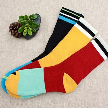 Mixed Color In Tube Socks For Men Autumn And Winter Weather Cotton Cotton Socks Gentlemen Business Sock Accessories