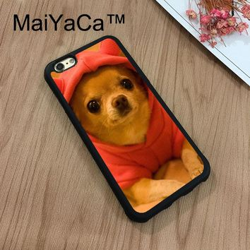 "MaiYaCa Chihuahua Dog Puppy  Painting New For iPhone 7 Case 4.7"" Protect Case Cover Shockproof Rubber Hard Phone Cases Coque"
