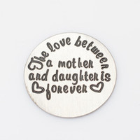 """""""The love between a mother and daughter is forever"""" Silver Floating Plate"""
