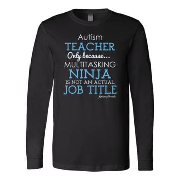 T-Shirt - Canvas Long Sleeve - Autism