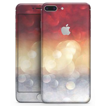 Red and Gold Unfocused Glowing Orbs - Skin-kit for the iPhone 8 or 8 Plus