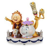 Disney Beauty and the Beast Lumiere Cogsworth Chip & Mrs Pott Statue New Box