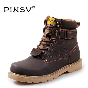 Size 35-46 Men Boots Winter Shoes Men Leather Boots Fur Ankle Boots For Men Work Shoes Botas Mujer Chaussure Homme