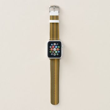 Orange and Black Stripes Apple Watch Band