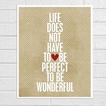 Wonderful Life original digital print in latte & white - 8x10 Gifts Under 25