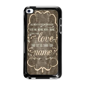 THE AVETT BROTHERS QUOTES iPod Touch 4 Case Cover
