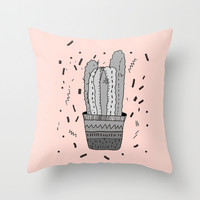 CACTUS Throw Pillow by Vasare Nar