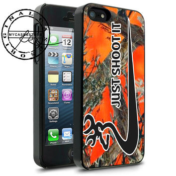Just Shoot It Browning Nike on Orange iPhone 4s iPhone 5 iPhone 5s iPhone 6 case, Samsung s3 Samsung s4 Samsung s5 note 3 note 4 case, Htc One Case
