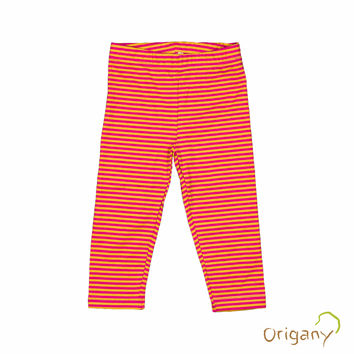 Organic Merry Go Round Yarn Dyed Capri Leggings