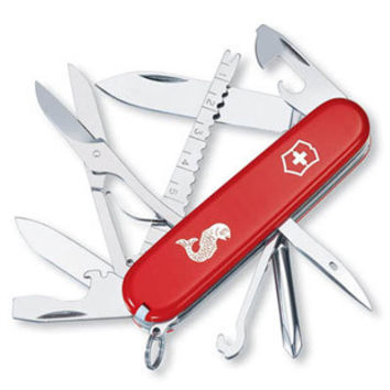 Victorinox Swiss Army Fisherman Pocket Knife - Solid Red Case - Fish Scaler