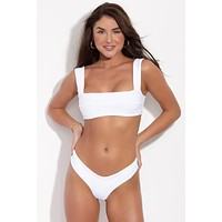Back Tie Hampton Top - White