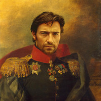 Hugh Jackman - replaceface Art Print by Replaceface