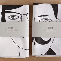 Man and Woman Tea Towels by depeapa