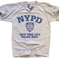 NYPD T-SHIRT New York Police Department Gray XL