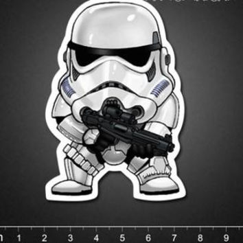 Star Wars storm soldier painted white pawns suitcase stickers