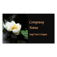 elegant business card lily double sided