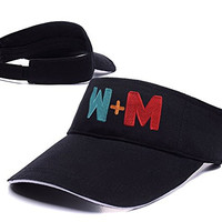 DEBANG Walk The Moon Band Logo Adjustable Visor Cap Embroidery Sun Hat Sports Visors