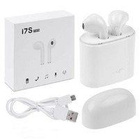 I7S TWS Earbuds Ture Wireless Bluetooth Double Earphones Twins Earpieces Stereo Music Headset with Charging box For Apple iphone