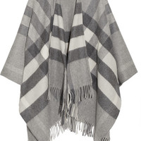 Burberry London - London checked cashmere and merino wool-blend wrap