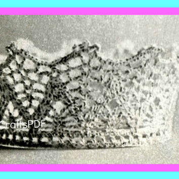 1970s Bridal Flower Coronet-Vintage Crochet Pattern-Bridal Tiara-Brides Crown-Wedding Keepsake-Bridal Shower-Topper-Bride-Crochet Wedding