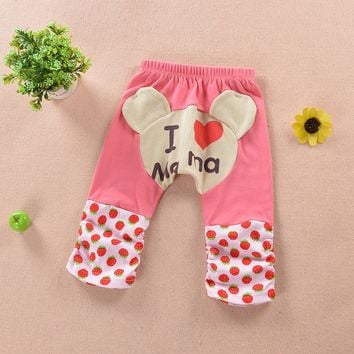 0-2 Years Baby PP Pants Cartoon Pattern Spring Autumn Newborn Trousers Cotton Casual Baby Boys Girls Pants Clothing