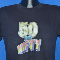 80s Fifty is Nifty Iron On 50th Birthday t-shirt Medium