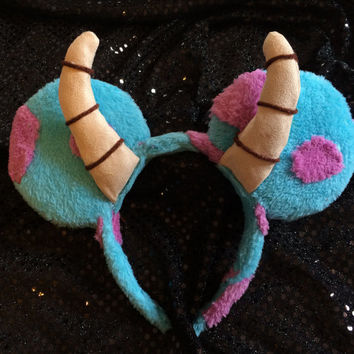 Blue Monster Mouse Ears Headband