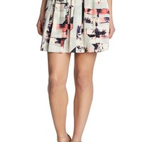 Women's 1.STATE 'Miami Spectrum' Drawstring Skirt
