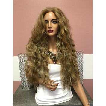 """Blonde Swiss Lace Front Wig 24"""" 