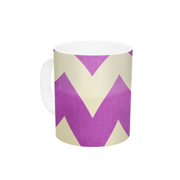 "Catherine McDonald ""Juicy"" Chevron Ceramic Coffee Mug"