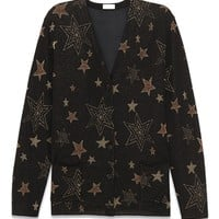 Indie Designs Saint Laurent Inspired Oversized Copper Star Knit Cotton Cardigan